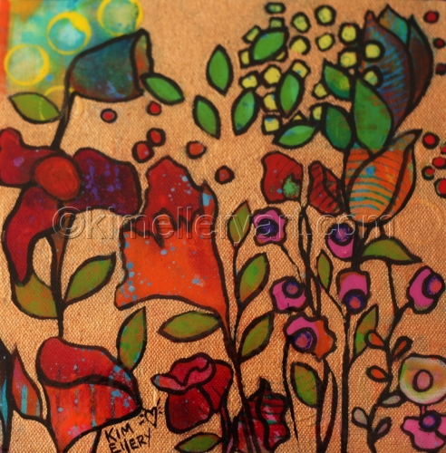 "Fields of Flowers #25 ""Blowing Leaves"""