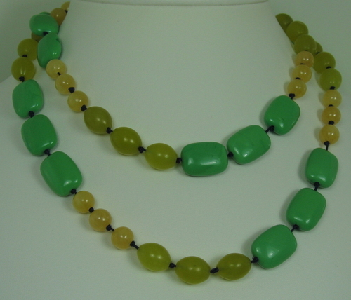 Green Glass, Pineapple Jade and Olivine (large view)
