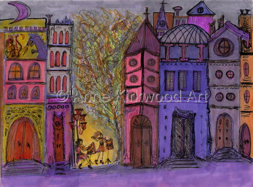 Venice in Purple       (Item# V-2)