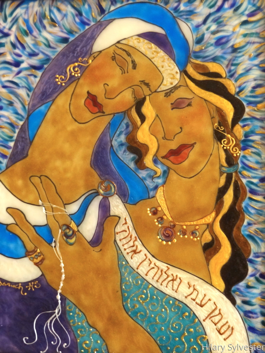 feminist acrylic paintings ruth u0026 naomi by hilary sylvester