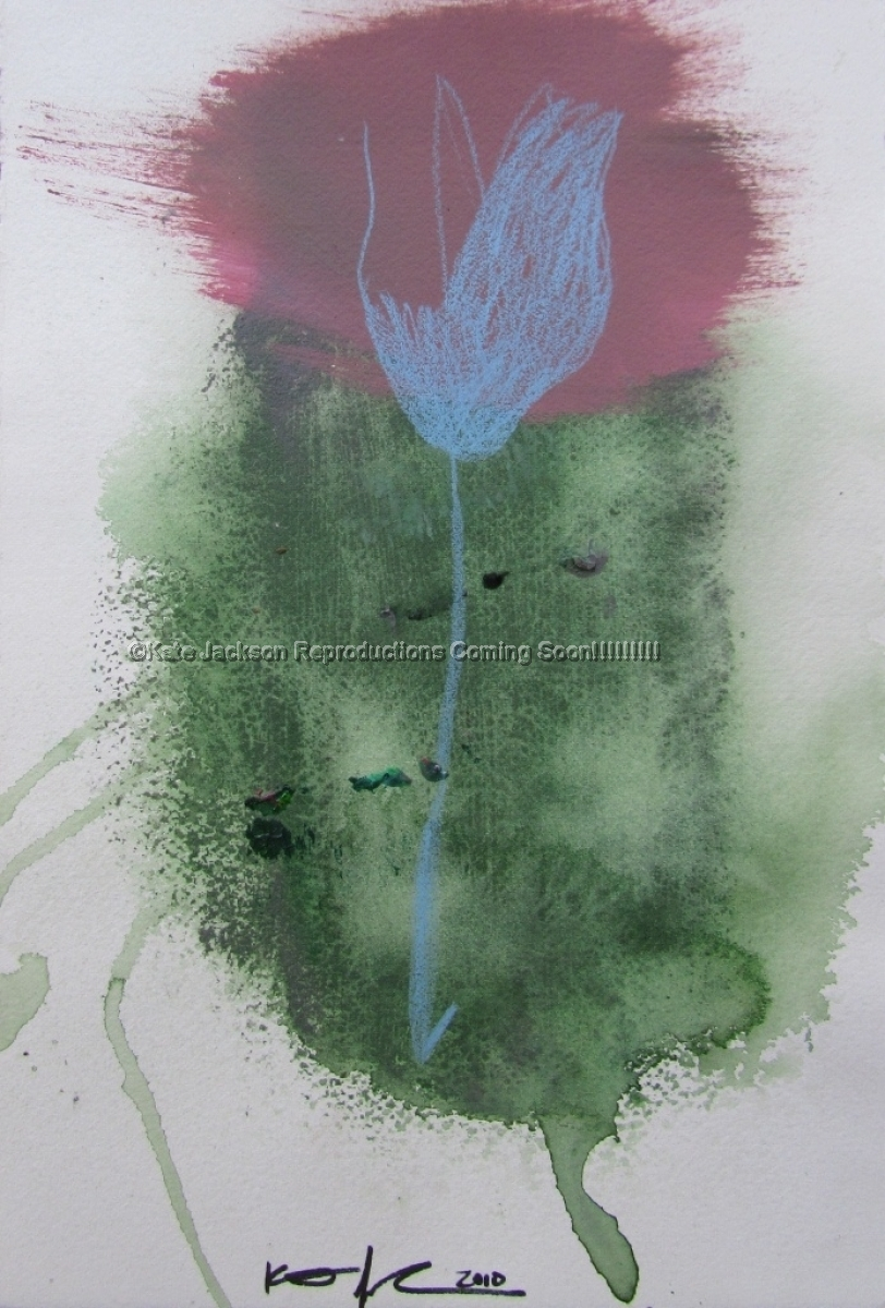 """Blue Flower"" 2010 (large view)"