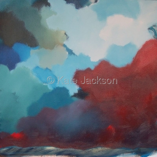 """""""Red and Blue Sky""""  (large view)"""