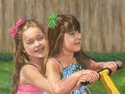 Painting--Pastels-PortraitThe Backyard Seesaw