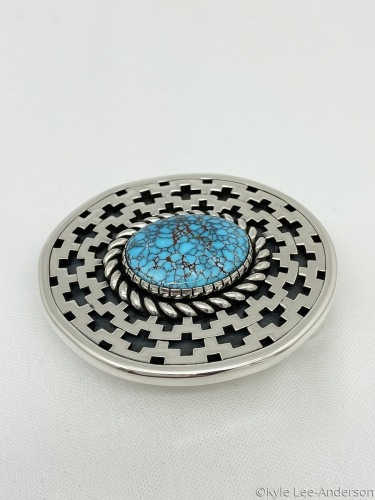 Egyptian turquoise belt buckle  by Kyle Lee-Anderson Jewelry