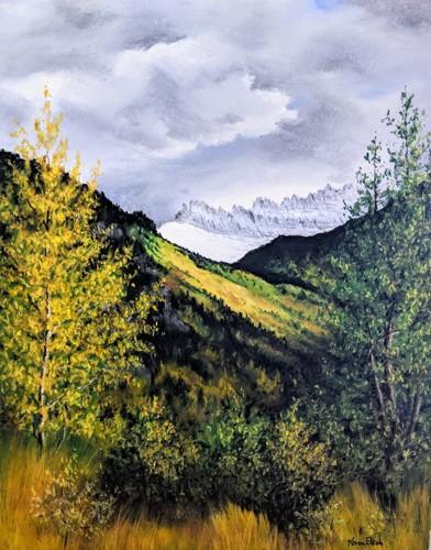 Autumn in Glacier Park  by Karen Elkan Fine Art
