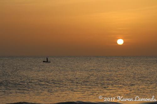 Gulf Coast Sunset by Karen Lemonds