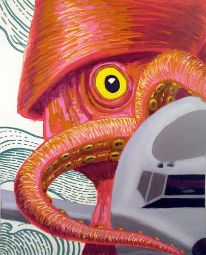 Full Frontal Study 1 by Karl Lund / Alien vs. Lund