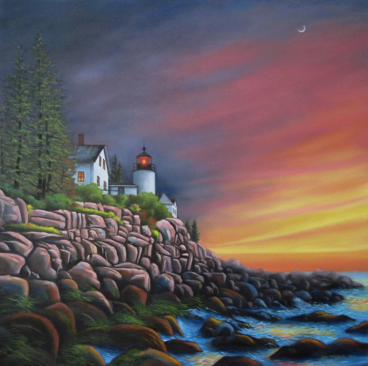 Lighthouse in Maine (large view)