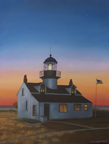 Pt. Pinos Lighthouse Sunset (large view)