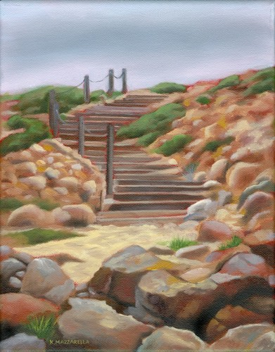 Steps to Sandy Cove (large view)