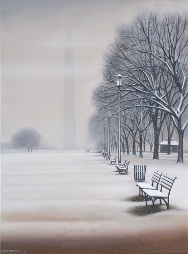 Washington Monument in Snow (large view)