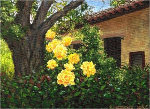 Yellow Roses at Carmel Mission (large view)