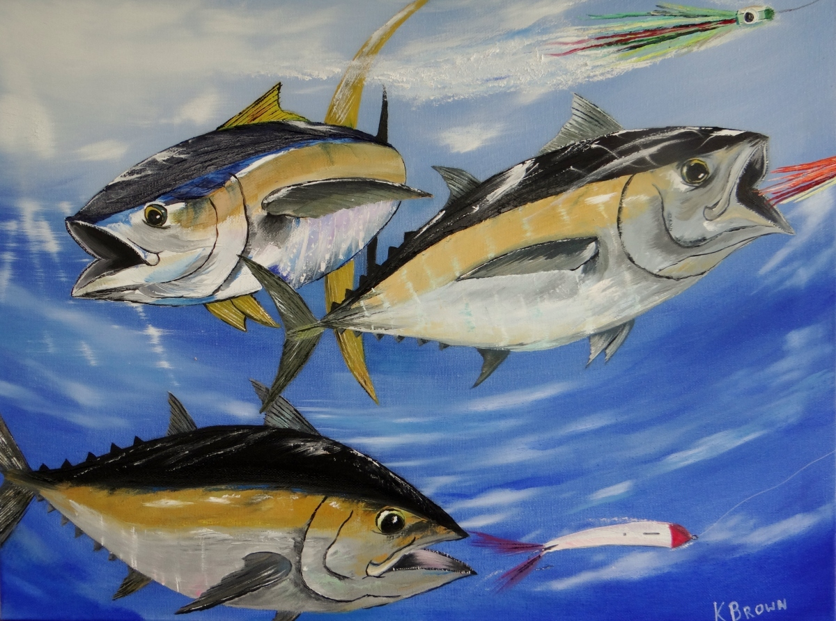 "Painting : ""Tuna Attack"" (Original art by Kevin Brown)"