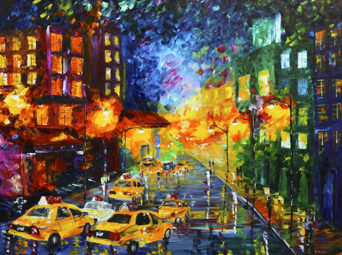 Taxi Cabs (SOLD- Prints Available) (large view)
