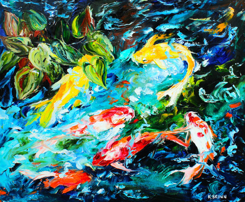 Koi Pond -(SOLD) Prints Available (large view)