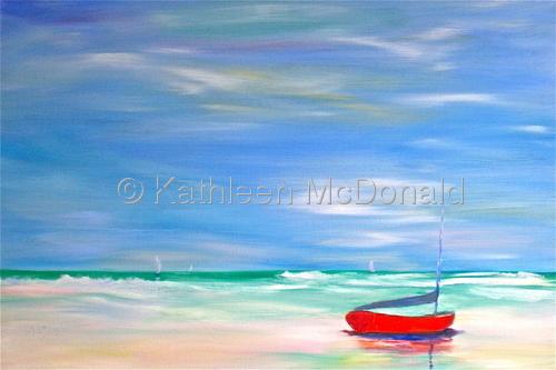 Red Boat, Casperson Beach, Venice, FL