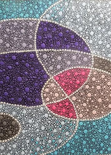 Abstract Dot Circles