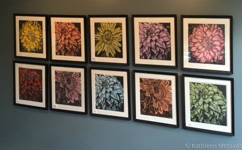 Flower Show Original Woodblock Prints for Sale