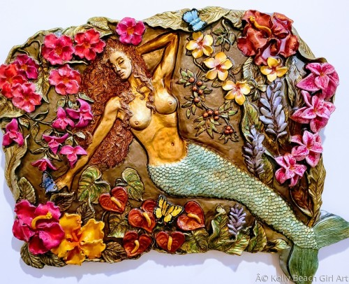 Mermaid Lagoon  by Kelly Beach Girl Art