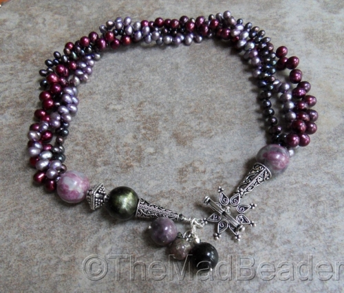 Tourmaline & Pearls Luxe by The Mad Beader