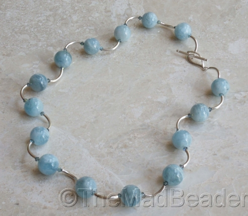 Long & Lovely Aquamarine     by The Mad Beader