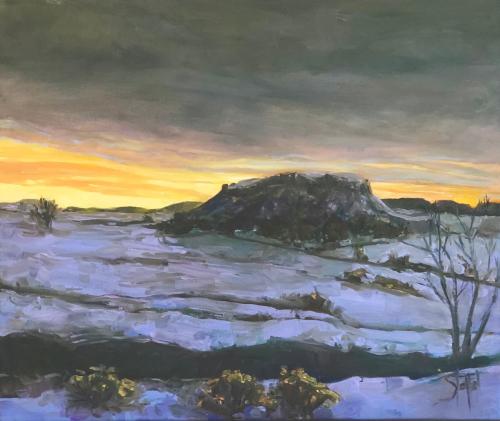 Midwinter Sunset at Black Mesa