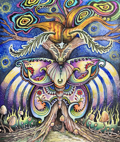 ALEXIS PALMAFFY: Cosmic Moth Woman