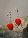 Candy Heart on a Chain Earrings (thumbnail)