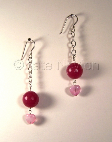 Raspberry Jasper Love Delight Earrings