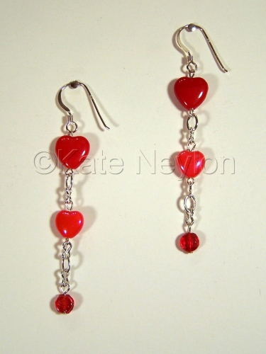 Red Hot Love Earrings
