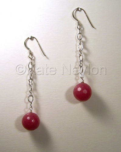 Raspberry Jasper Delight Earrings