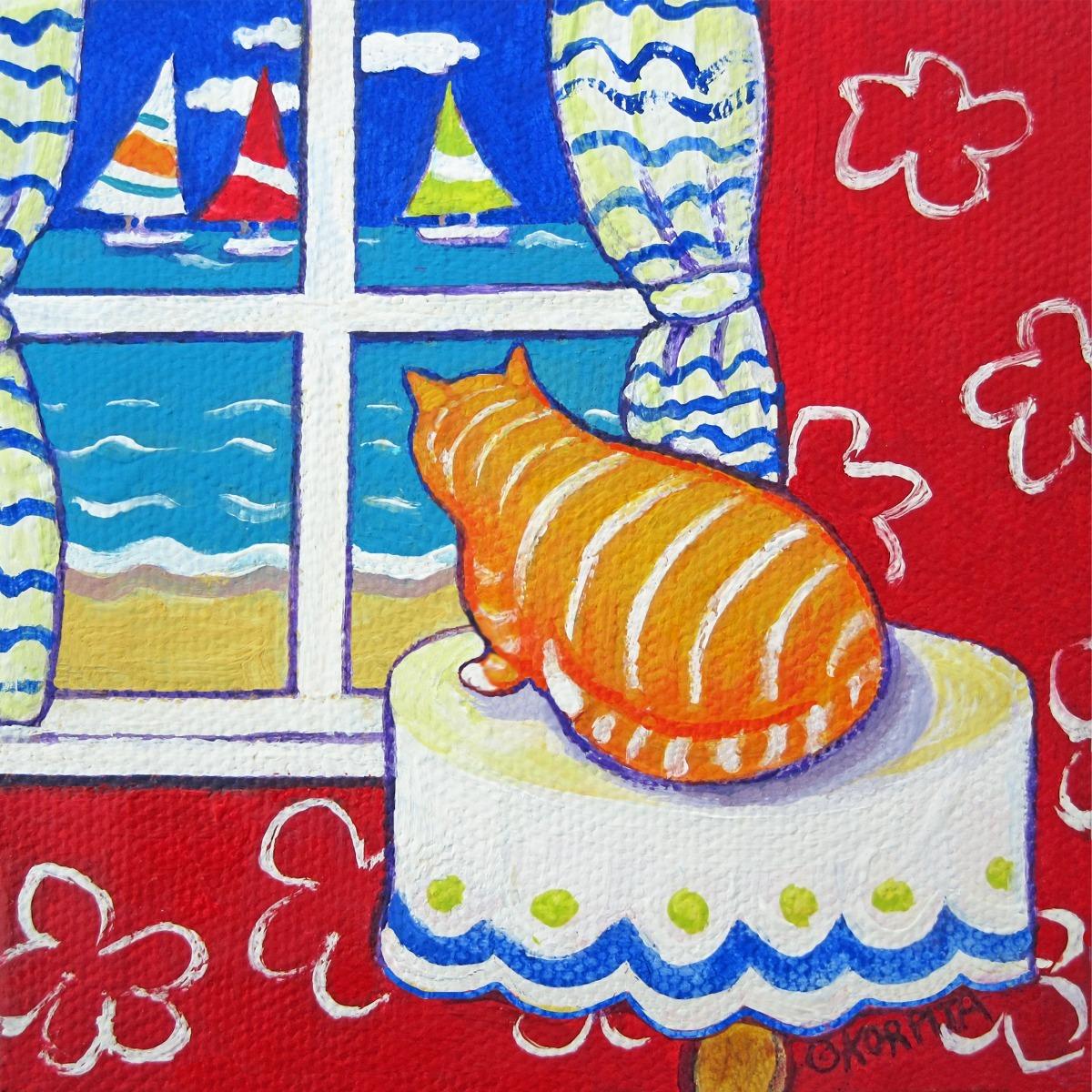 Orange Cat, Blue Sea (large view)