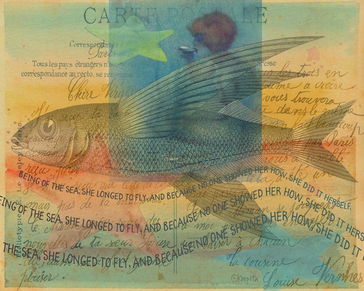 Mermaid Flying Fish - She Longed to Fly (large view)