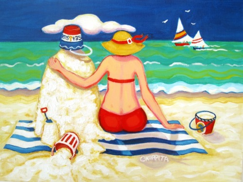 Mr. Sandman - Beach by Rebecca Stringer Korpita