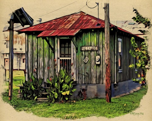 Sharecropper Shack for Rent by Rebecca Stringer Korpita