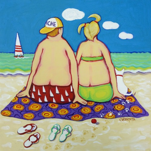 Beach Time by Rebecca Stringer Korpita