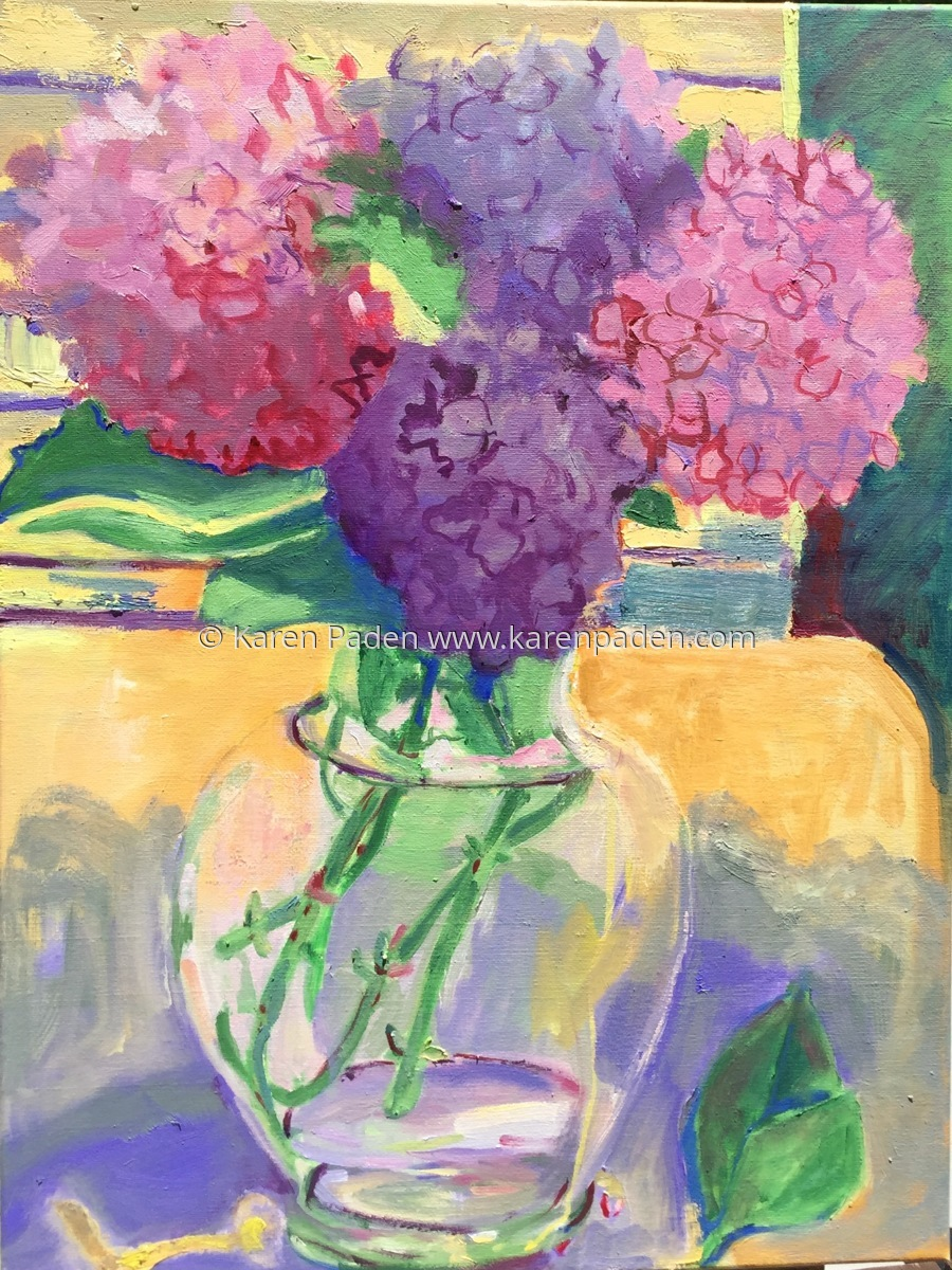 """Hydrangeas"" (large view)"