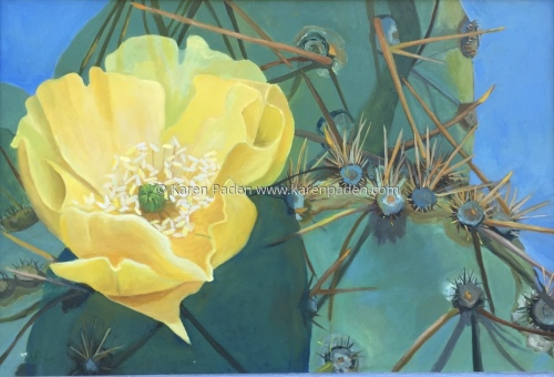 """""""Cactus Flowers and Thorns"""" by Karen Paden"""