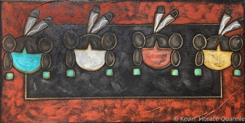 Hopi Corn Maidens by Kevin Horace-Quannie