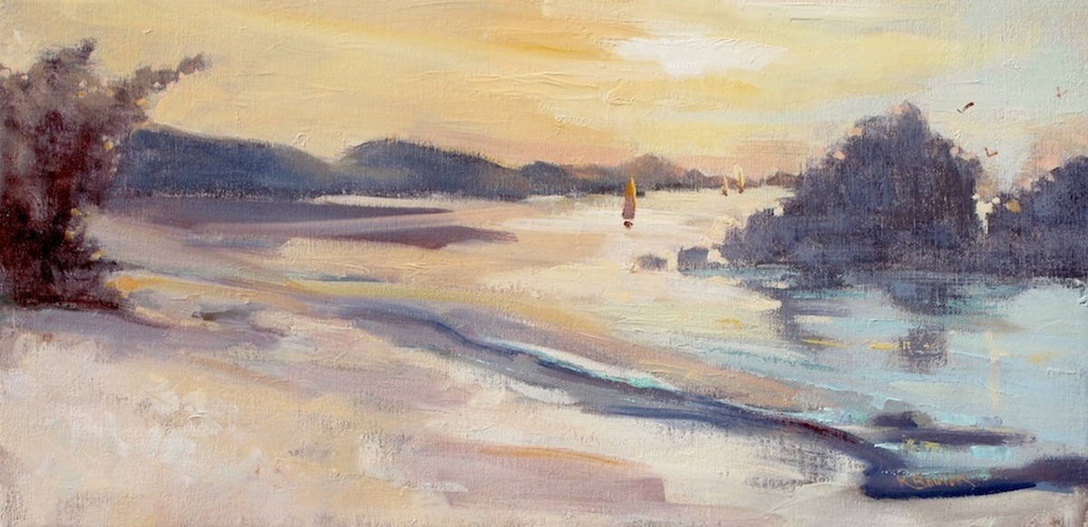 Sunset Sailing at Trunk Bay (large view)