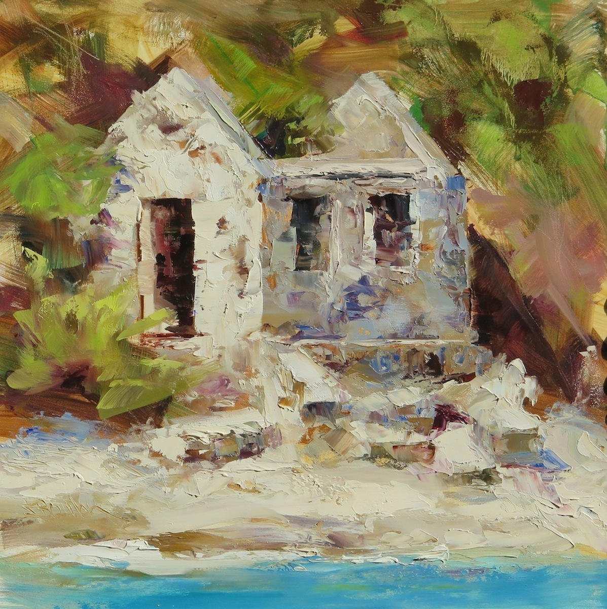 Whistling Cay Guardhouse - Portrait (large view)
