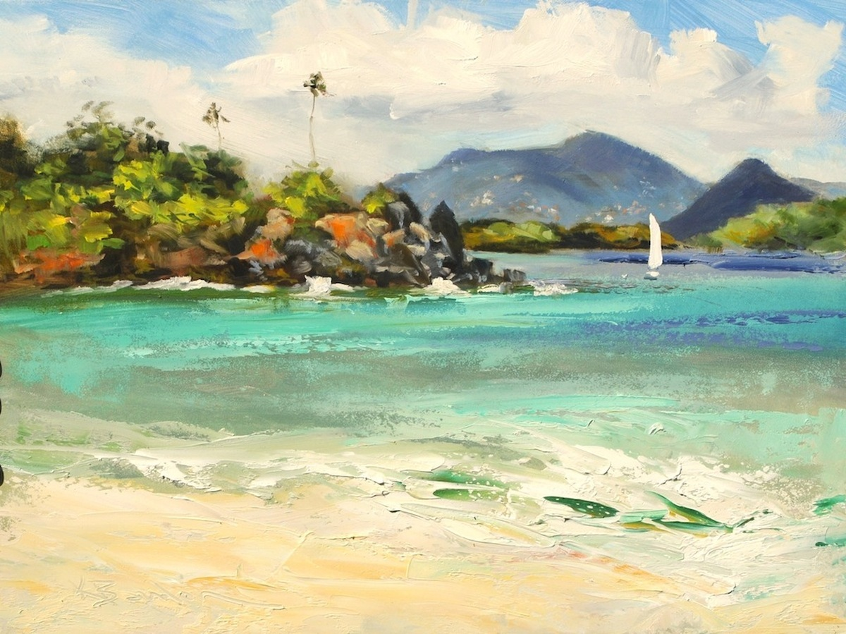 Trunk Cay, The Durloes and St. Thomas, Morning (large view)