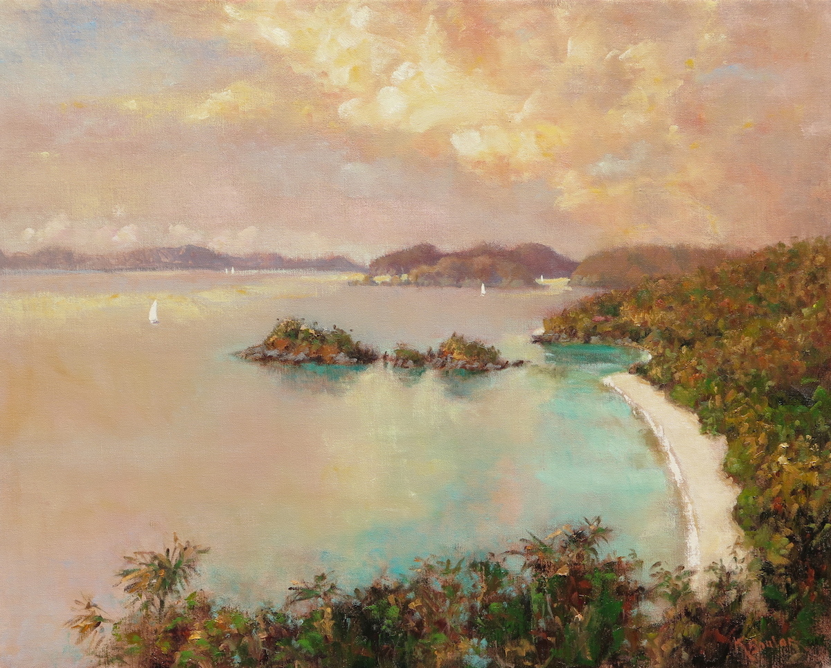 Approaching Sunset: Trunk Bay, St. John and Beyond (large view)
