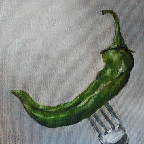 Down the Hatch Green Chile Pepper