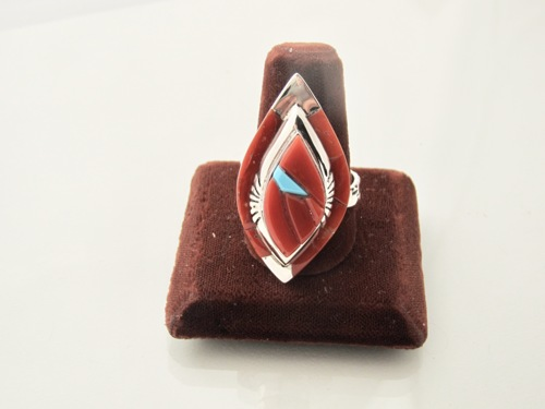 Autumn Red  Leaf Ring by Ken Romero