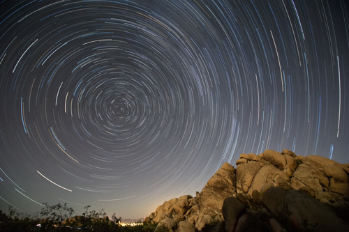 Joshua Tree Star Trails by Onekiel Photography