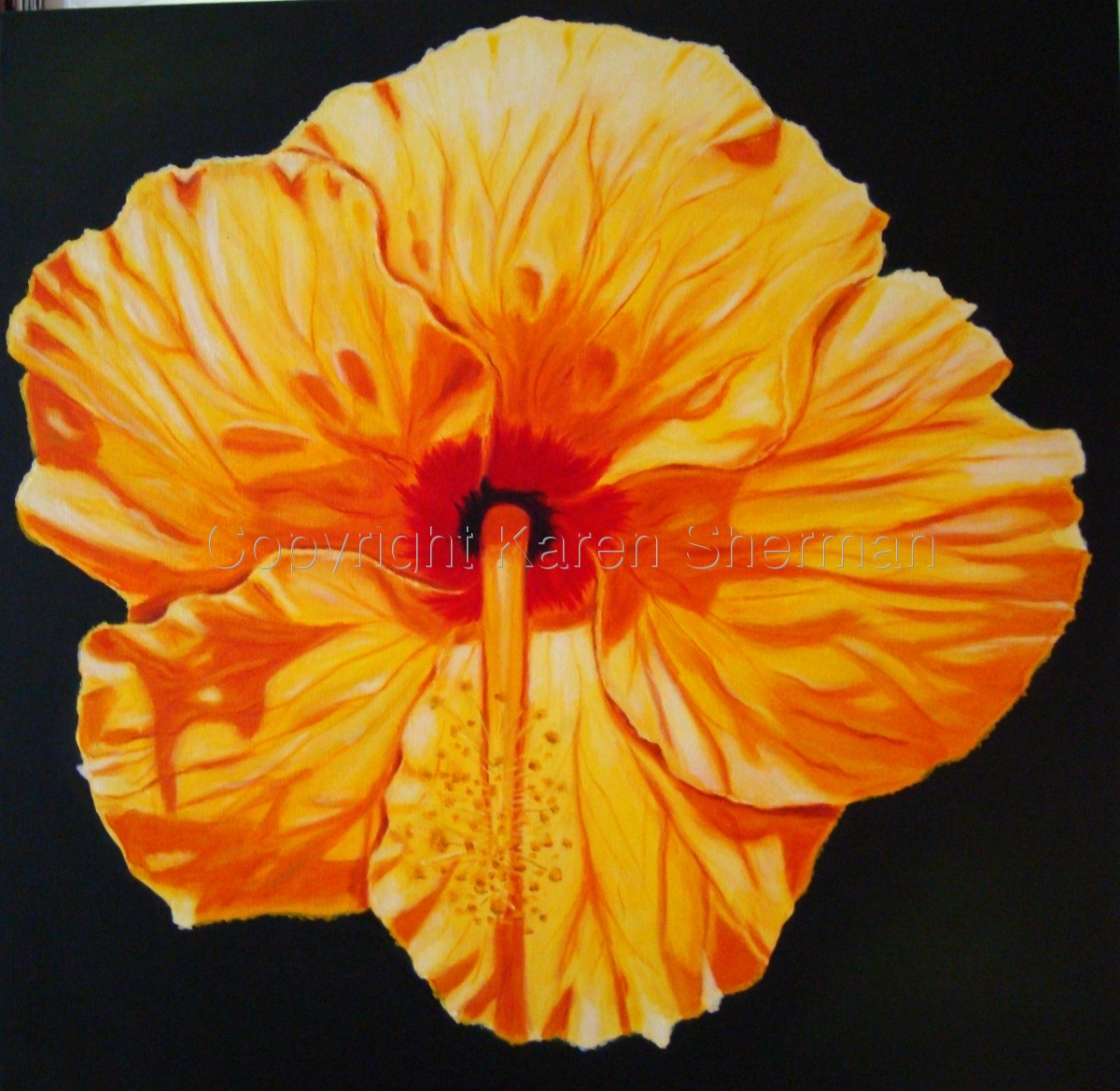 """Yellow Hibiscus 1"" (large view)"