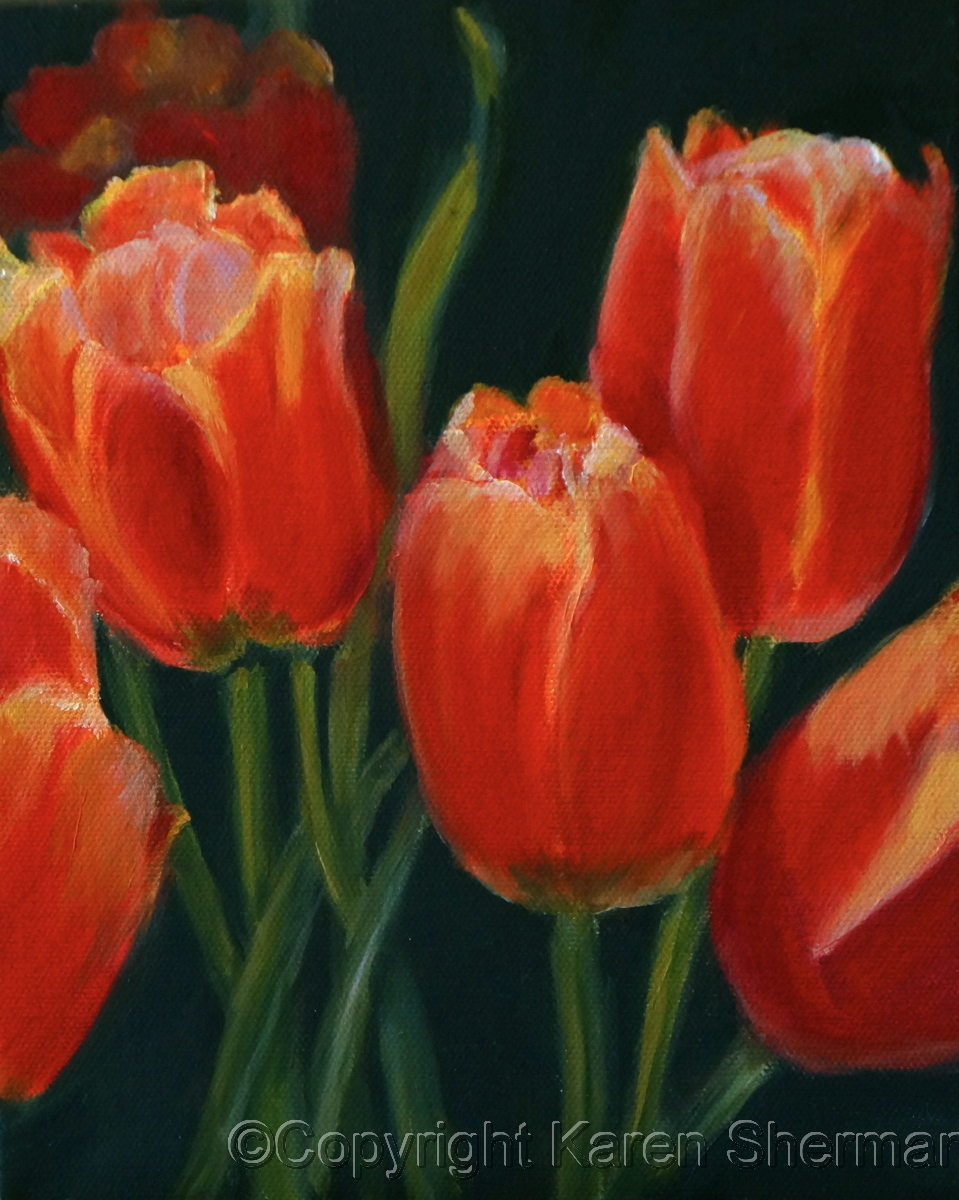 """""""Red Tulips"""" (large view)"""