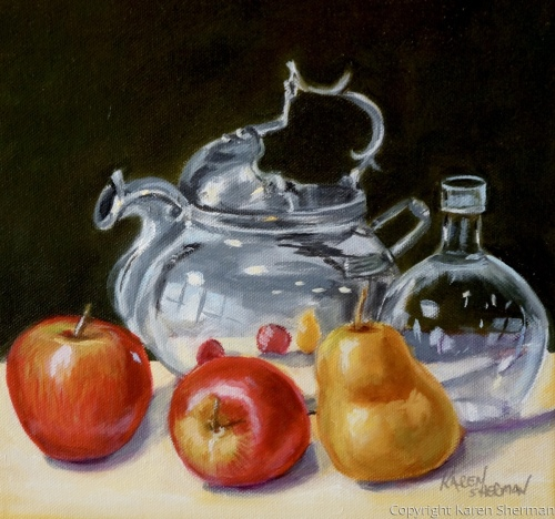 Pot and Fruit