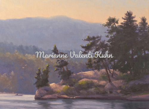 Perch Island by Shelving Rock Bay by Marianne  V.  Kuhn